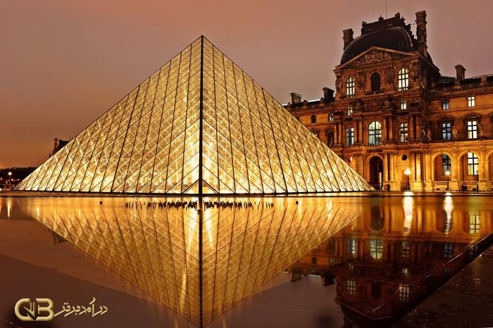 معماری موزه لوور پاریس