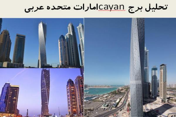 پاورپوینت تحلیل برج cayan امارات متحده عربی